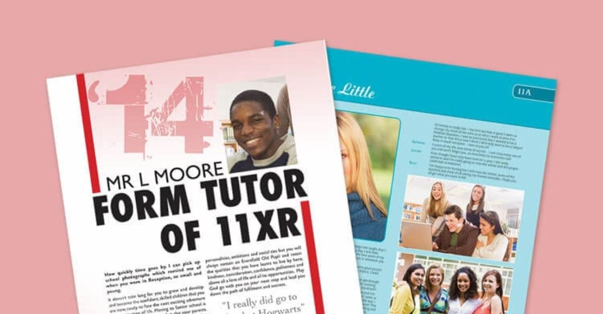 Yearbook Design Idea: Magazine Articles